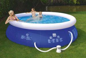 Schwimmbecken Happy People Quick Up Pool Set mit Filterpumpe Ø300x76cm