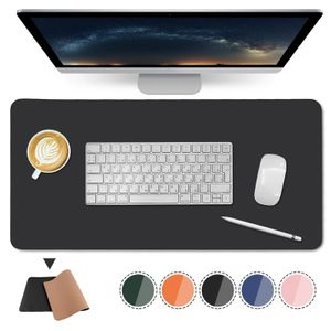Schreibtischunterlage Umweltfreundliche doppelseitige Büro-Schreibtischmatte aus Naturkork und Leder Mauspad 90 * 45 cm / Schwarz
