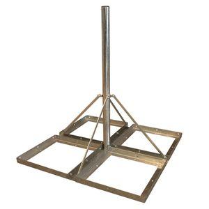 PremiumX DELUXE Sat Balkonständer 4x 50x50cm Stahl 1,20m Mast 60mm Flachdachständer