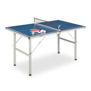 relaxdays Tischtennisplatte Indoor mit Zubehör