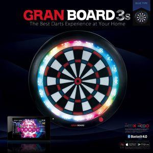 GranBoard elektronische Dartscheibe 3s60 cm blau/rot 4-teilig