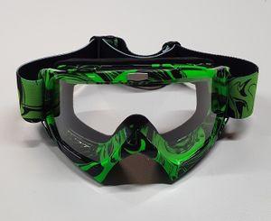 Motocross Brille hellgrün Motorradbrille Endurobrille Schutzbrille Racingbrille Crossbrille Linsenfarbe transparent