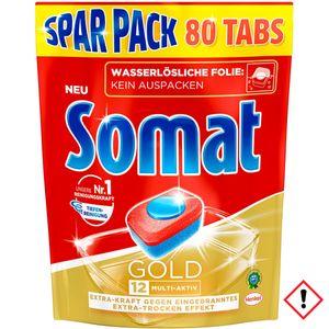 Somat Tabs 12 Gold mit Tiefenreinigung Sparpack 80 Stück 1 Pack