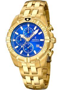 Festina F20356/2 Chronograph Uhr Herrenuhr Edelstahl Chrono Datum Gold