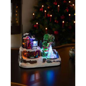 Konstsmide LED Szenerie 'Bahnhof mit Weihnachtsbaum'