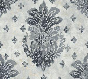 A.S. Création Vliestapete Boho Love Tapete metallic grau schwarz 10,05 m x 0,53 m 364563 36456-3