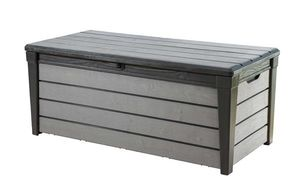 KETER-Brushwood Box 455 Liter anthrazit-Auflagen- und Universalbox  WLF - Wood Look & Feel-6045EC
