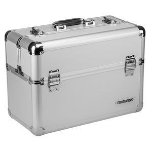 Werkzeugkoffer 24L Präsentationskoffer Etagenkoffer Silber + Schlüsse - Silber