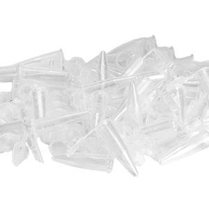 100pcs Klar Zentrifugenröhrchen Klein Reagenzgläser Kunststoff Reagenzröhrchen Reagenzgläschen 1,5 ml