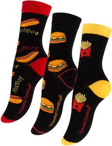 Vincent Creation® Socken - FAST FOOD 3 Paar Bunt 36-40