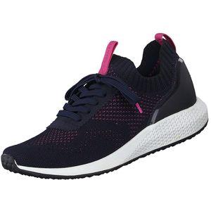 TAMARIS Fashletics Damen Sneaker Blau/Pink, Schuhgröße:EUR 37