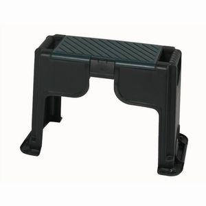 Siena Garden KH8306 Kunststoff Kniebank mit Staufach, schwarz/grün (1 Stück)