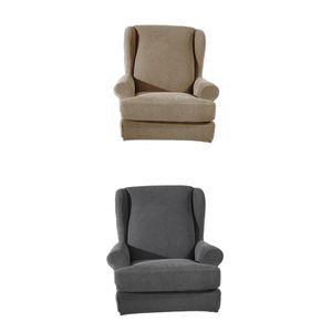 2x Elastische Sesselhussen Sesselbezug Ohrensessel Schutzhülle