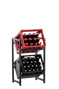CLP Getränkekistenständer Lennert, Farbe:schwarz, Größe:S