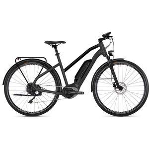 Ghost HybRide Square Trekking B3.8 AL W 28 Zoll Mountainbike MTB Hardtail E-Bike, Farbe:titanium gray / night black / palladium silver, Rahmengrösse:42 cm