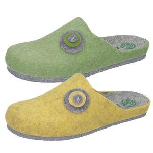 Dr. Brinkmann Damen Hausschuhe Pantoffeln Filz 320664, Größe:40 EU, Farbe:Grün