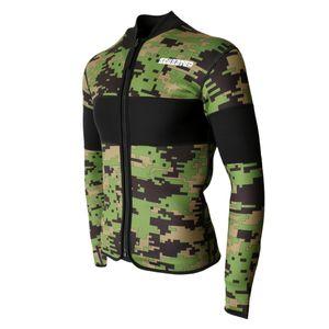2,5mm Neoprenanzug Jacke Neopren Shirt Herren Tauchanzug Surfanzug Schwimmanzug Wetsuit Jaket Anti-UV Badeshirt Größe XXL
