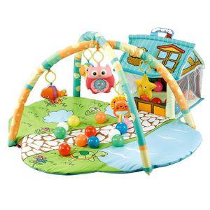 Moni Activity Center Happy Farm JL625-1A, Spielbogen 30 Spielbälle, kleines Haus