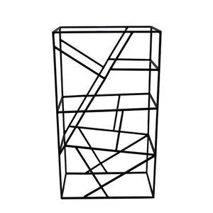 """LaLe Living Weinregal """"Vino"""" aus Eisen, Schwarz 26x45,5cm"""