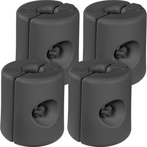 INSTENT 4er Set Fußgewichte Standfüße für Pavillon grau