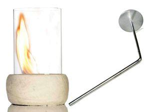 Tischkamin Stone TischfeuerEthanol beige-natur