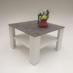 Möbel SD Couchtisch Jannes Betonoptik - Weiß 67 x 67 x 43,5