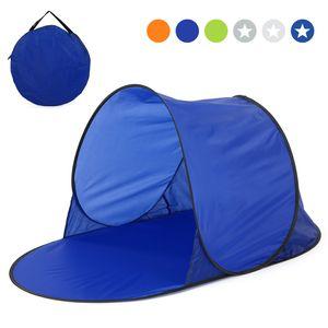Strandzelt Pop up Zelt Automatik Strandmuschel Sommer Meer Sonnenschutz Outdoor Wasserzelt 142 * 72 * 69cm,Blau