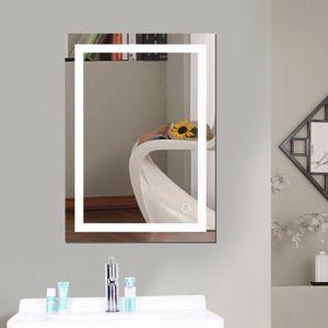 LED Badspiegel 50x70cm Badspiegel mit Beleuchtung badezimmerspiegel LED Touch(kaltweiß)