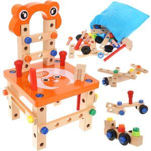 Werkbank aus Holz mit Zubehör Spiel-Werkbank für kleine Erfinder 54 tlg.Ab 3 Jahre 9441