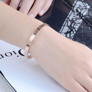 Edelstahl Armband Manschette Armreif Runde Armband für Männer 8mm Roségold 62x54x8mm Rose Gold