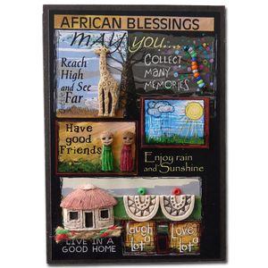 Exklusive Geschenkkarte 'African Blessings', Farbe:bunt, Motiv:Ausf. 1