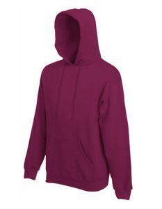 Classic Hooded Sweat - Farbe: Burgundy - Größe: L