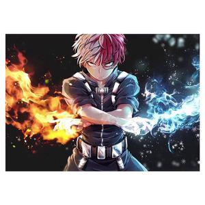 Anime My Hero Academia Poster Japanischer Anime My Boku no Hero Academia Kein Verblassen Kunstdruck Poster für Wohnkultur, 16,53 x 11,81 Zoll -H02