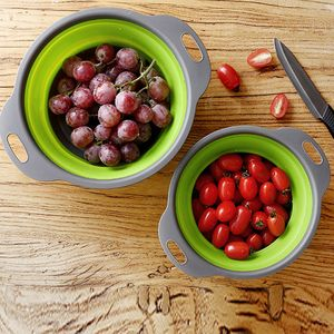 Faltbares Silikonsieb Obst Gemüse Waschkorb Sieb Küche GN L. WTX80103481GNL