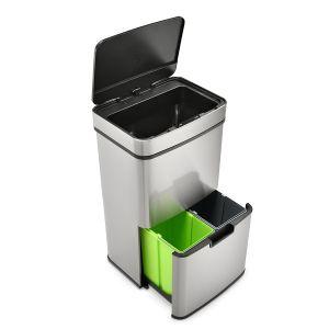 SVITA Sensor-Mülleimer 62L Edelstahl Mülleimer mit Sensor Abfalleimer