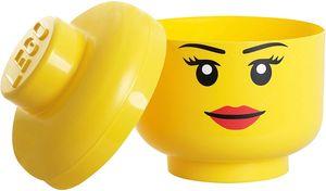 LEGO Aufbewahrungsbox, großer Kopf,zwinkerndes  Mädchen