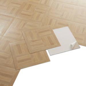 GENERIQUE - PVC Bodenbelag - Selbstklebende Fliesen - Heller Holzboden-Effekt - Beige - 2,04m²/22 Fliesen