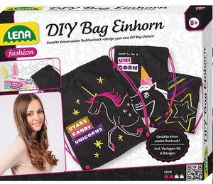 LENA® 42607 - DIY Bag Einhorn, Rucksack, Turnbeutel 4006942839902