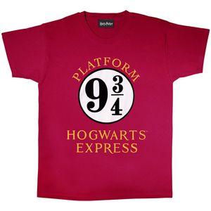 Harry Potter - T-Shirt für Damen PG484 (XL) (Burgunderrot/Weiß)