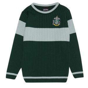 Harry Potter - Slytherin Pullover für Mädchen PG932 (158) (Grün/Grau meliert)