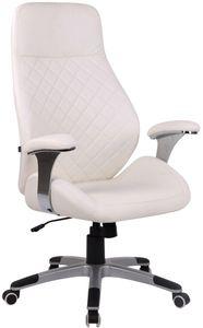 CLP Bürostuhl Layton drehbar und höhenverstellbar, Farbe:weiß, Material:Kunstleder