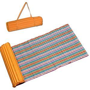 Strandmatte 60cm x 180cm ohne Kissen Orange gestreift