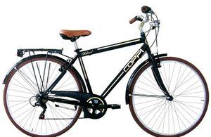 28 Zoll Cityrad Herren Coppi Retro 6 Gänge Schwarz 51 cm Rahmengröße