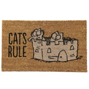 Kokos Fußmatte Simon´s Cat ' Cats Rule ' 45 x 75 cm