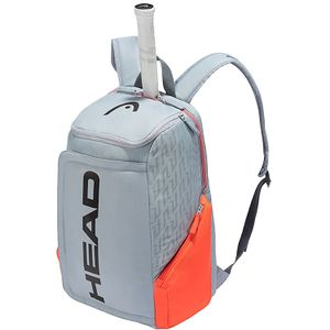 HEAD Rebel Backpack Tennistasche Grau Orange