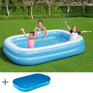 BESTWAY Jumbo Pool Swimmingpool Planschbecken Kinderpool 262x175x51cm mit Cover