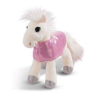 Nici 44901 weißes Pferd white Peach stehend mit Satteldecke 25cm Plüsch
