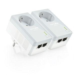 TP-LINK AV500 Powerline Adapter KIT mit Frontsteckdose und 2 LAN-Ports ( TL-PA4020PKIT )