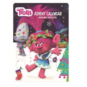 Trolls - BIP Adventskalender mit Schokolade, Schoko Weihnachts Kalender