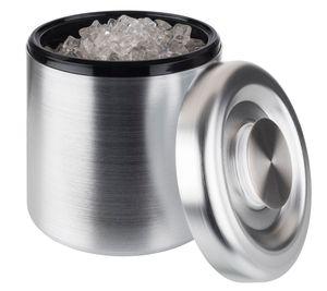 Buddy´s Bar - Eisbox /// hochwertiger Eis-Eimer mit 3 Liter Fassungsvermögen /// 18,5 cm x 18,5 cm 20 cm /// Eisbehälter Aluminium eloxiert /// nicht spülmaschinengeeignet